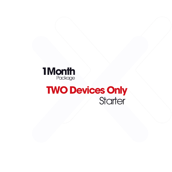 1 Month2DevicesIPTVPackage